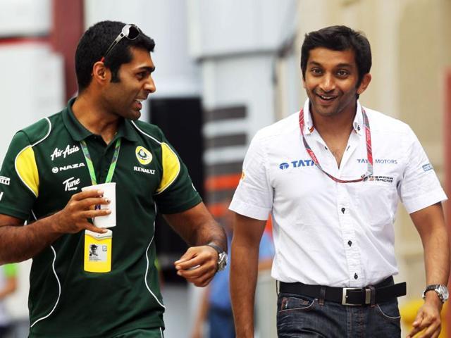 Karun-Chandhok-left-and-Narain-Karthikeyan-at-the-2011-European-GP