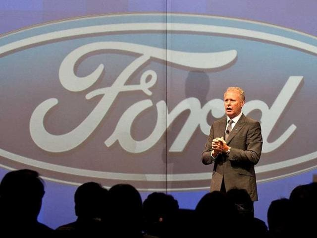 Ford India President and managing director Michael Bonham speaks during a press conference at the preview of the new Ford EcoSport car in New Delhi. Ford previewed its new EcoSport compact SUV car on the eve of India Auto Expo 2012. AFP Photo/Manan Vatsyayana