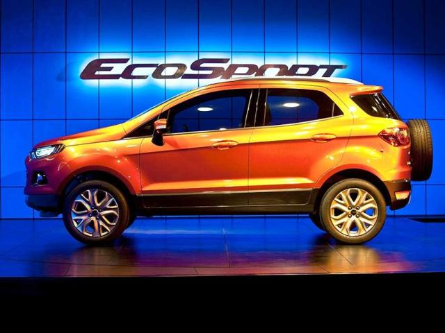 The-new-Ford-EcoSport-car-is-displayed-during-the-unveiling-in-New-Delhi-Ford-previewed-its-new-EcoSport-compact-SUV-car-on-the-eve-of-India-Auto-Expo-2012-AFP-Photo-Manan-Vatsyayana