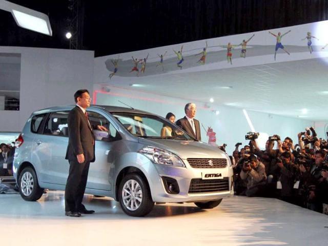 Maruti-Suzuki-s-new-seven-seater-compact-MPV-Ertiga-unveiled-at-the-11th-Auto-Expo-on-Friday-HT-Photo