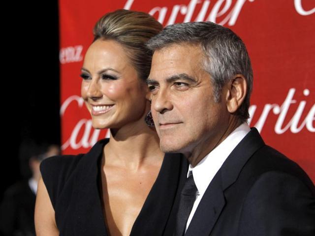 George Clooney,Stacy Keibler,WWE Diva