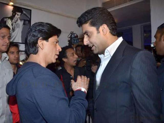 Shah Rukh Khan,Aishwarya Rai Bachchan,Abhishek Bachchan