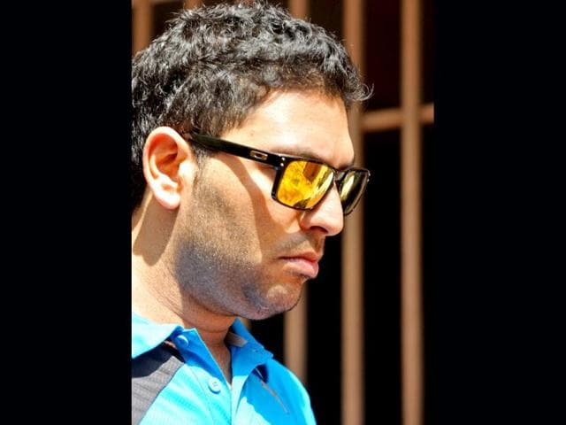 Yuvraj-Singh-exits-the-National-Cricket-Academy-NCA-following-the-selection-trial-for-the-forthcoming-Australian-Tri-series-in-Bangalore-AFP-Photo
