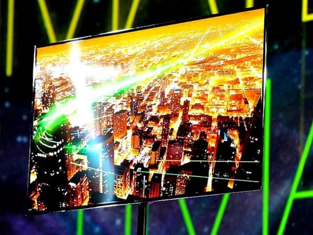 Samsung-showed-off-55-inch-TVs-with-screens-made-from-organic-light-emitting-diodes-rather-than-the-standard-liquid-crystals-or-plasma-cells-and-said-they-ll-on-sale-this-year-They-didn-t-say-what-they-would-cost-but-analysts-expect-the-price-to-be-upwards-of-5-000
