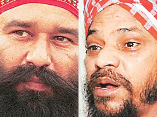 Dera-Sacha-Sauda-led-by-Gurmit-Ram-Rahim-Singh-left-has-a-large-following-in-the-Malwa-region-the-Ropar-based-dera-of-Baba-Piara-Singh-Bhaniarawala-has-been-embroiled-in-controversies-HT