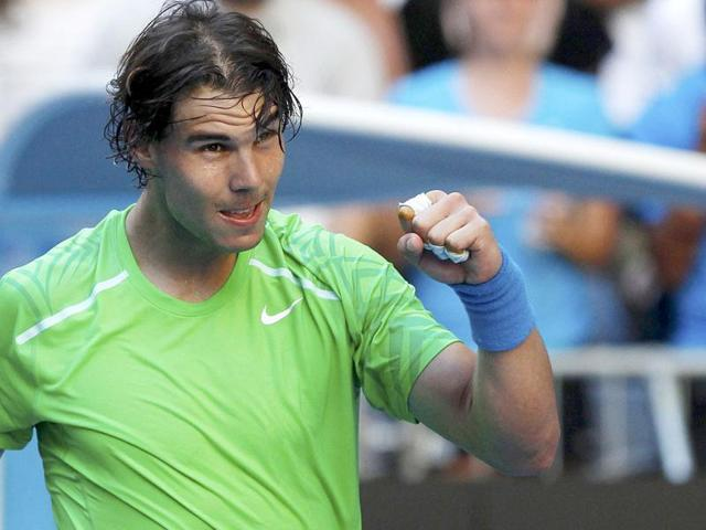 Rafael-Nadal-celebrates-defeating-Alex-Kuznetsov-during-their-men-s-singles-match-at-the-Australian-Open-tennis-tournament-in-Melbourne-Reuters