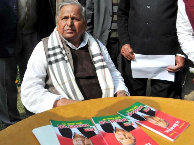 Samajwadi-Party-supremo-and-former-Uttar-Pradesh-chief-minister-Mulayam-Singh-Yadav-after-releasing-party-manifesto-at-party-office-in-Lucknow-Agencies