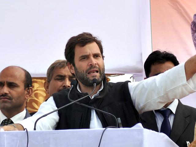 Congress-Party-general-secretary-Rahul-Gandhi-delivers-a-speech-during-a-public-campaign-meeting-in-Bara-Village-some-35km-from-Allahabad-State-assembly-elections-are-scheduled-in-five-Indian-states-and-will-be-held-on-January-30-AFP-Photo