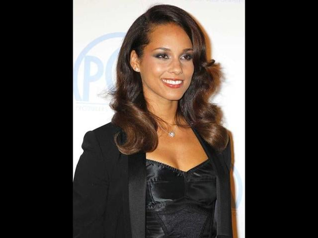 Singer Alicia Keys was also present at the event.