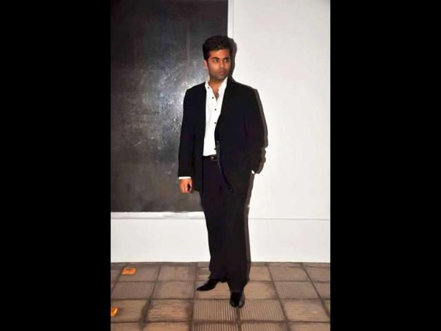 Karan-Johar-was-spotted-as-usual-in-black