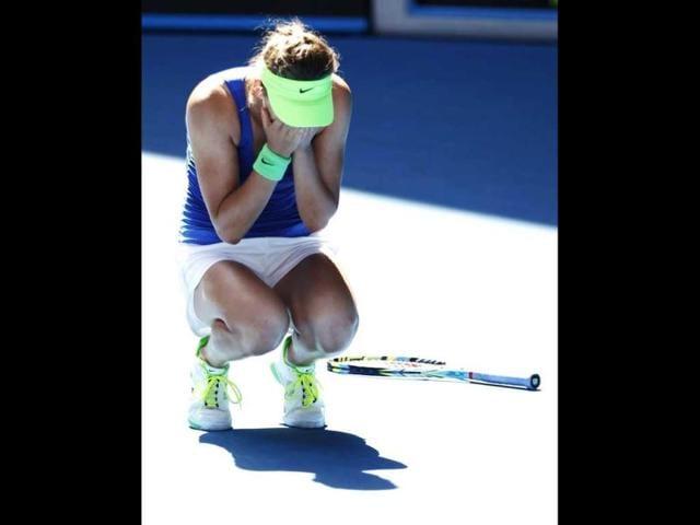 Victoria-Azarenka-of-Belarus-celebrates-after-defeating-Kim-Clijsters-of-Belgium-in-their-women-s-singles-semi-final-match-at-the-Australian-Open-tennis-tournament-in-Melbourne-Reuters