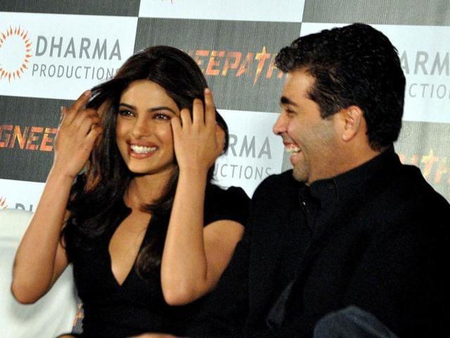 Priyanka-Chopra-and-Karan-Johar-share-a-light-moment