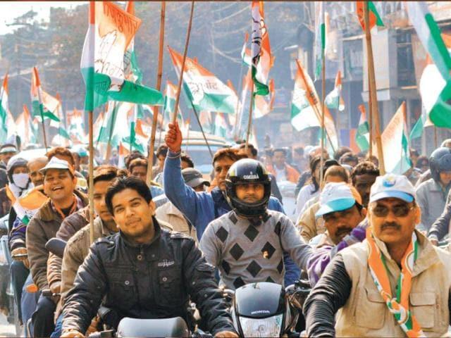 A-Congress-procession-in-Dehradun-on-Saturday-Kuldeep-Rana-HT-photo