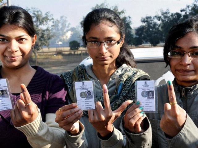 Young Delhi voters raring to get inked