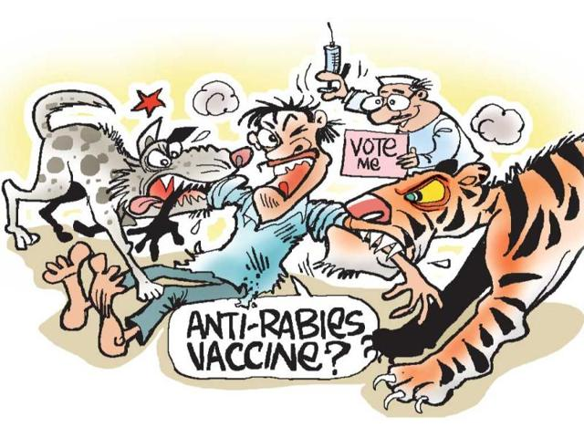 Upset-with-at-least-182-cases-of-dog-bites-within-a-fortnight-residents-of-Bidhoona-block-in-Auraiya-constituency-have-decided-not-to-cast-their-votes-until-the-canines-are-captured-HT-Illustration-Jayanto