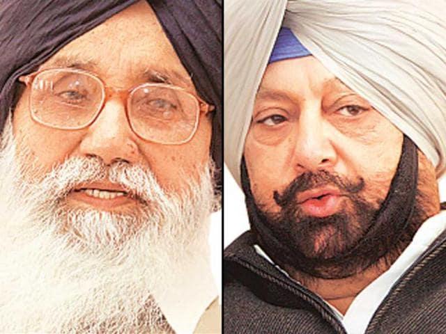Punjab-Chief-ministerial-candidates-Parkash-Singh-Badal-SAD-and-Capt-Amarinder-Singh-Congress