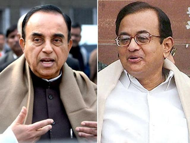 A-file-photo-of-Janata-Party--chief-Subramanian-Swamy-and-home-minister-P-Chidambaram