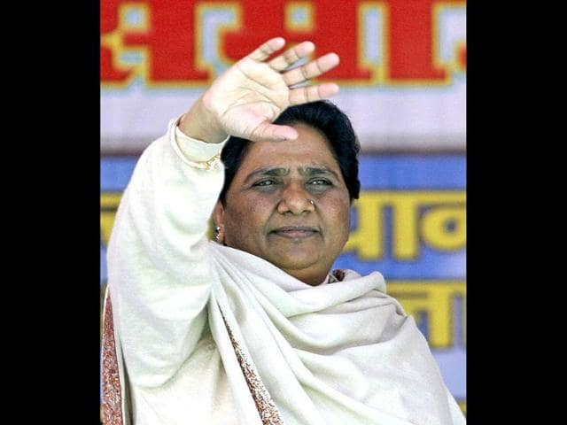 Mayawati-the-chief-minister-of-Uttar-Pradesh-waves-during-an-election-campaign-rally-in-Faizabad-AP-Photo