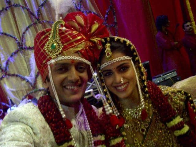 Bollywood at Riteish-Genelia reception