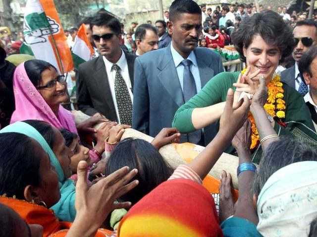 Priyanka-Gandhi-Vadra-interacts-with-women-during-her-election-campaign-in-support-of-Congress-party-at-Ashkamau-in-Amethi-PTI-Atul-Yadav