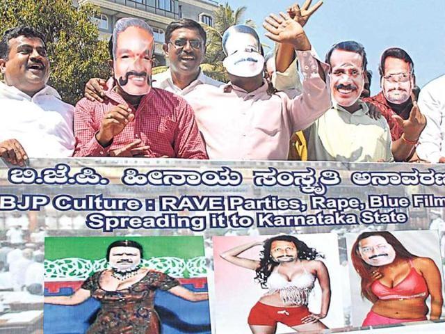 Porno film watching case: Three ministers in Karnataka quit,BJP ministers,Chief Minister D V Sadananda Gowda