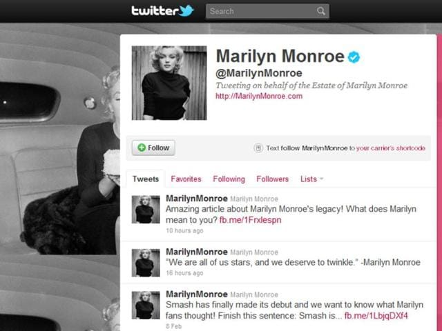 Marilyn-Monroe-s-official-Twitter-page