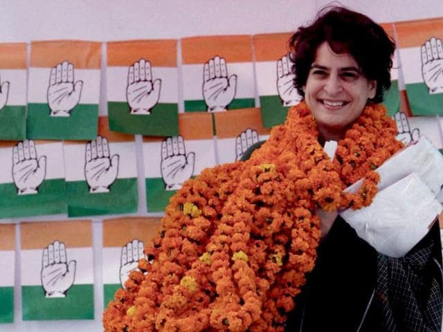 Priyanka-Gandhi-Vadra-at-an-election-campaign-rally-in-support-of-Congress-party-in-Rasulpur-Amethi-PTI-Atul-Yadav