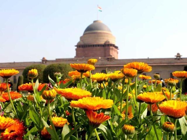 Mughal Gardens in Rashtrapati Bhawan