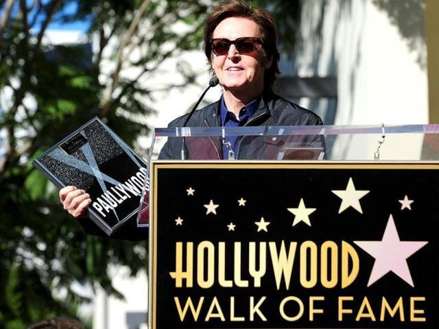 Music-legend-Paul-McCartney-speaks-at-a-ceremony-marking-his-freshly-unveiled-star-on-the-Hollywood-Walk-of-Fame-in-Hollywood-California-Receiving-the-2-460th-Star-on-the-famed-walkways-of-Hollywood-McCartney-s-star-is-lined-up-alongside-his-fellow-Beatles-John-Lennon-George-Harrison-and-Ringo-Starr-AFP