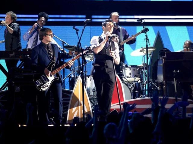 Adam-Levine-and-the-band-Maroon-5-perform-during-the-54th-annual-Grammy-Awards