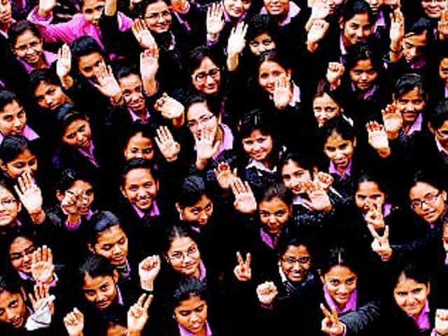 Students-of-Modern-Girls-College-of-Professional-Studies-Lucknow-Dheeraj-Dhawan-HT-Photo