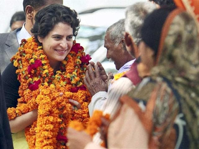 Priyanka-Vadra-during-an-election-campaign-for-her-mother-and-Congress-president-Sonia-Gandhi-in-Rae-Bareli-PTI-Photo