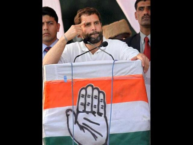 Congress-general-secretary-Rahul-Gandhi-gestures-while-addressing-an-election-campaign-rally-in-Lucknow-PTI-Nand-Kumar