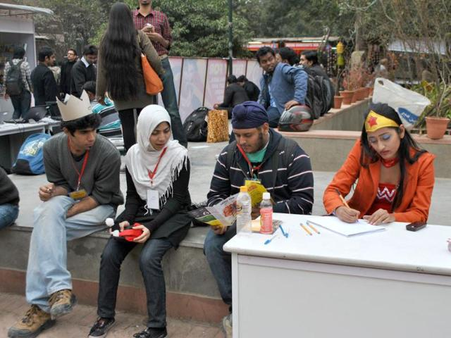 Participants-at-the-2nd-annual-Indian-Comic-Con-in-Delhi-HT-Divya-Jain
