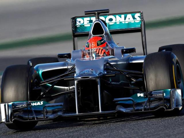 Michael-Schumacher-puts-the-new-Mercedes-W03-through-its-paces-at-the-Circuit-de-Catalunya-in-Spain-Getty-photo