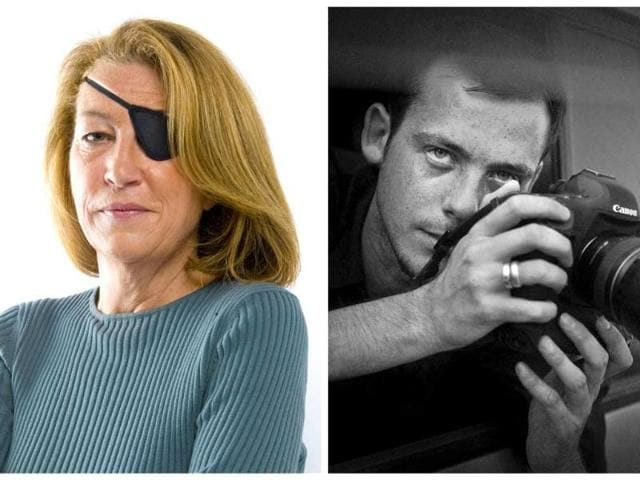 This-combo-shows-a-photo-of-American-journalist-Marie-Colvin-left-and-one-of-French-photographer-Remi-Ochlik-The-two-journalists-were-killed-by-Syrian-government-shelling-of-the-opposition-stronghold-of-Homs-France-s-government-said-AP-photo