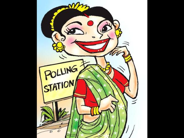 Polling-day-seems-to-be-becoming-something-of-a-grand-social-occasion-at-least-in-Uttar-Pradesh-what-with-women-going-to-vote-in-their-wedding-finery-HT-Abhimanyu