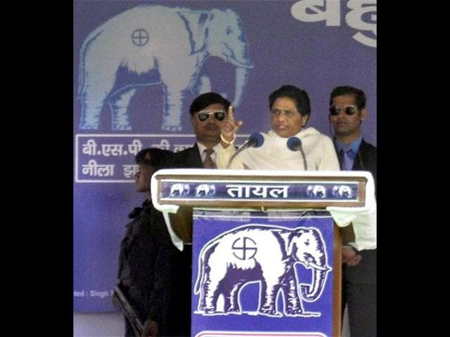 Uttar-Pradesh-chief-minister-and-BSP-supremo-Mayawati-speaks-during-an-election-rally-in-Moradabad-PTI-Photo