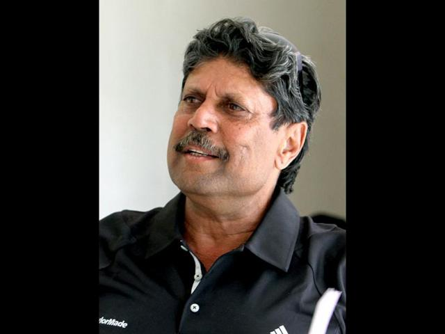 A-file-photo-Former-Indian-cricketer-Kapil-Dev-talks-during-an-interview-with-HT-sports-at-NSCI-in-New-Delhi-HT-Photo-by-Mohd-Zakir
