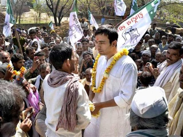 Rashtriya-Lokdal-chief-Ajit-Singh-s-son-and-party-candidate-from-Matt-assembly-seat-Jayant-Chaudhary-during-election-campaign-in-Mathura-PTI-Photo