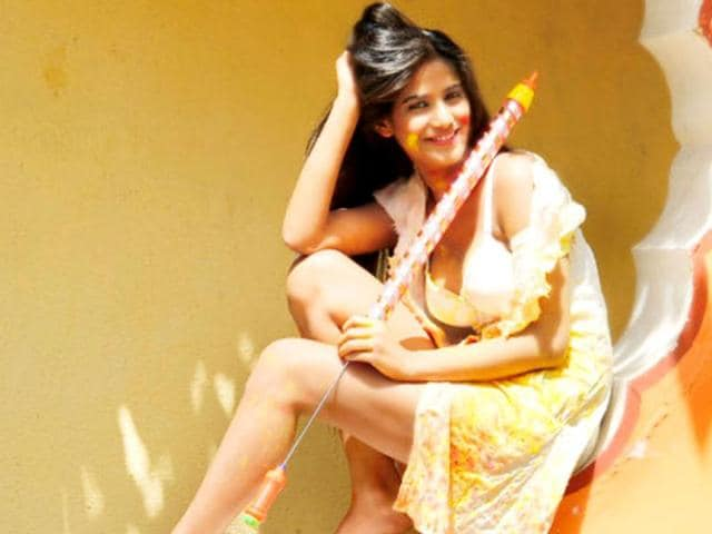 Poonam Pandey gets naughty on the occasion of Holi.