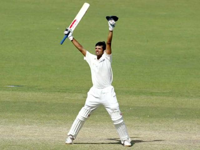 Rahul-Dravid-celebrates-after-hitting-the-winning-runs-against-Australia-on-the-final-day-of-the-second-Test-Match-being-played-in-Adelaide-on-16-December-2003-AFP-Photo-William-West
