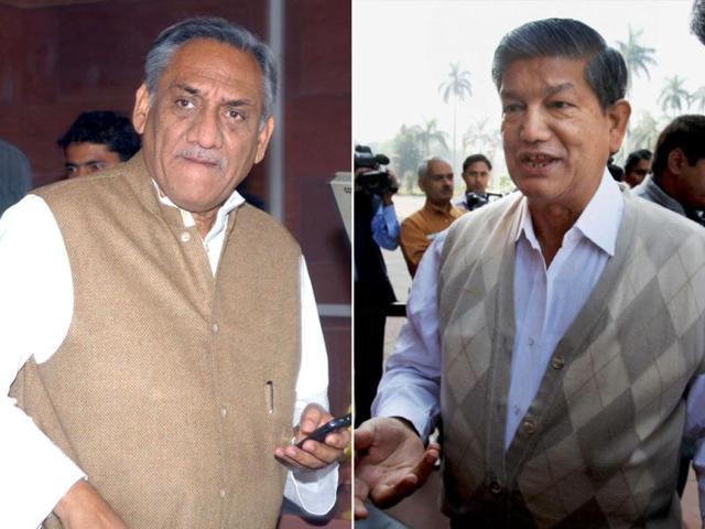 A-combination-picture-of-Harish-Rawat-and-Vijay-Bahuguna