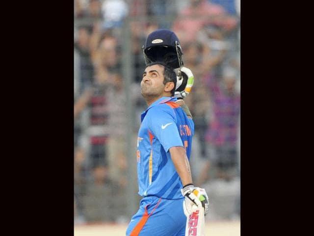 Gautam-Gambhir-reacts-after-scoring-a-century-during-the-one-day-international-Asia-Cup-cricket-match-against-Sri-Lanka-at-the-Sher-e-Bangla-National-Cricket-Stadium-in-Dhaka-AFP-Munir-uz-Zaman