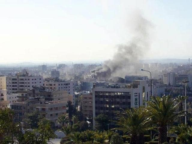 Smoke-rises-from-the-scene-following-twin-bombings-in-the-Syrian-capital-Damascus-killing-several-civilians-and-police-AFP-Syrian-opposition-Shaam-media-group