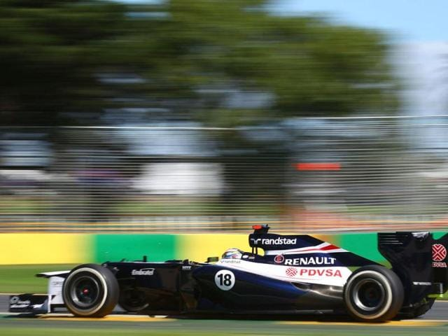 Venezuela-s-Pastor-Maldonado-was-on-course-for-a-sixth-place-finish-before-crashing-out-on-the-final-lap-of-the-Australian-Grand-Prix-Getty-Images
