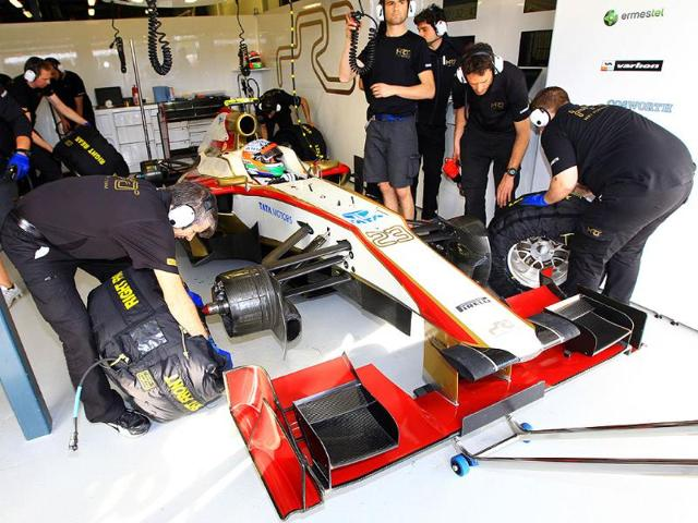 Hydraulic-problems-with-the-F112-meant-that-Karthikeyan-had-to-contend-with-issues-with-power-steering-and-DRS-Pic-courtesy-HRT-F1