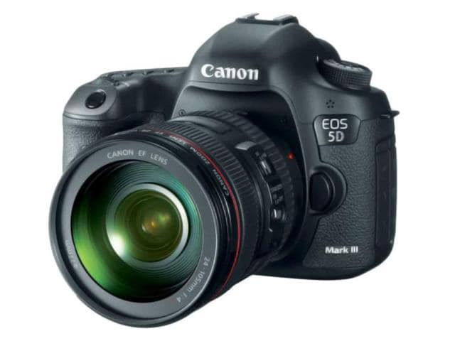 Canon-DSLR-the-EOS-5D-Mark-III-is-based-around-a-22MP-full-frame-sensor-it-can-shoot-6-frames-per-second-and-features-a-61-point-AF-system-much-like-the-EOS-1D-X-It-can-capture-1080p-movies-at-24-25-or-30-fps-and-offers-high-quality-intraframe-All-I-video-compression-amongst-a-host-of-movie-related-improvements