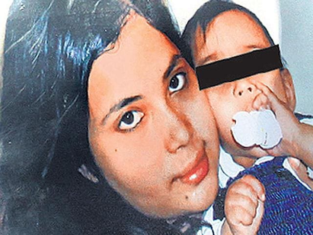 A-file-photo-of-Sagarika-Bhattacharya-and-her-child