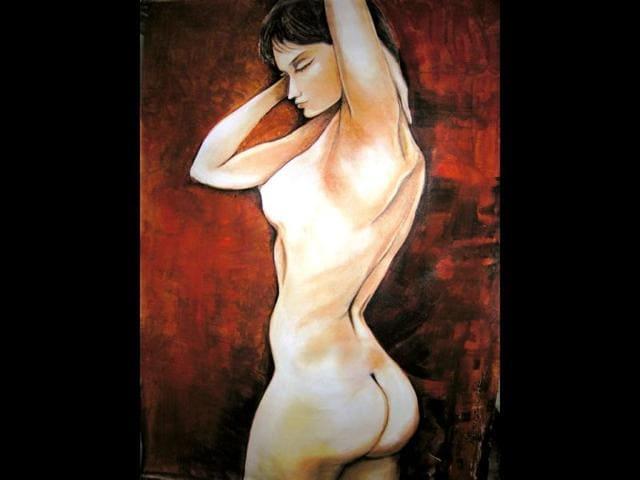 Nude indian art model — 1